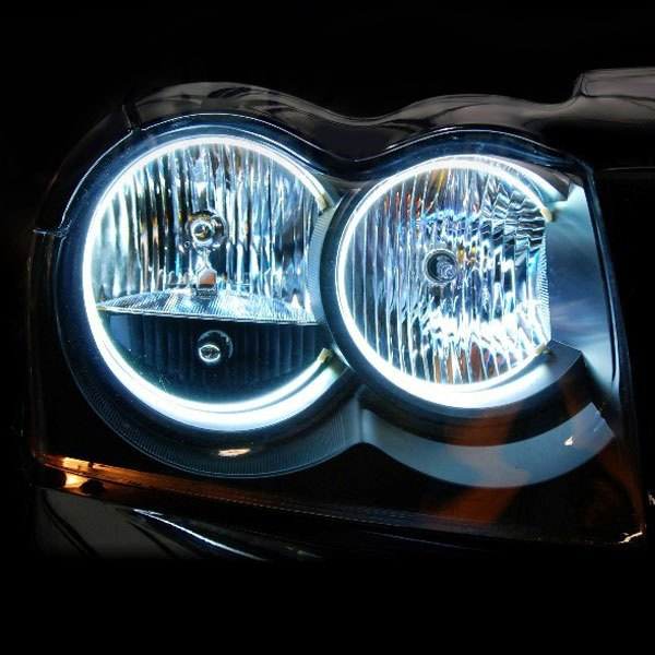 ... Lighting®   Chrome Factory Style Headlights With Red SMD LED Halos  PreinstalledOracle ...