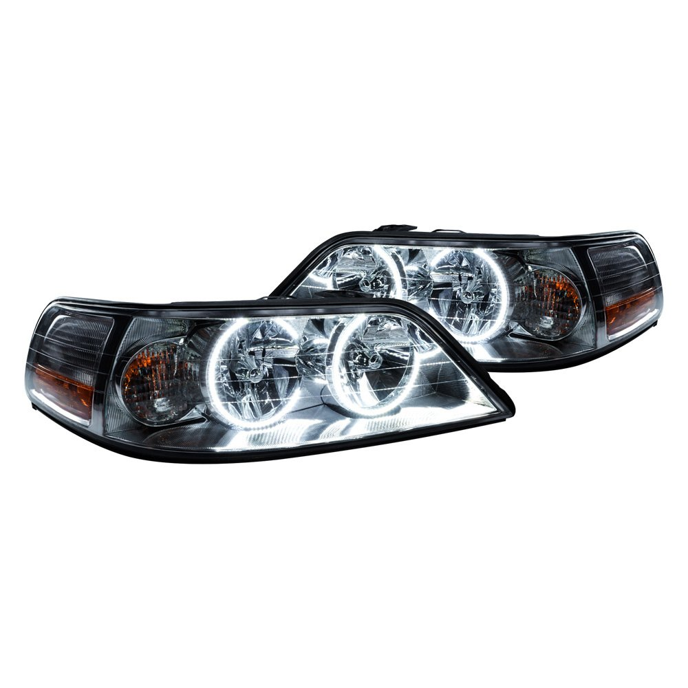 Oracle Lighting 174 Lincoln Town Car 2005 2008 Chrome Factory Style Headlights With Color Halo
