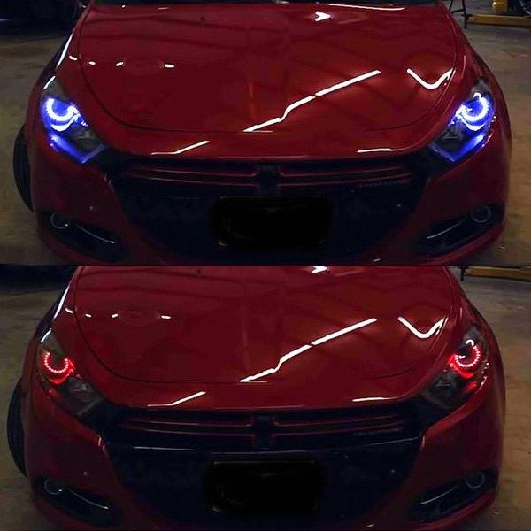 Oracle Lighting 174 Dodge Dart 2013 Black Factory Style