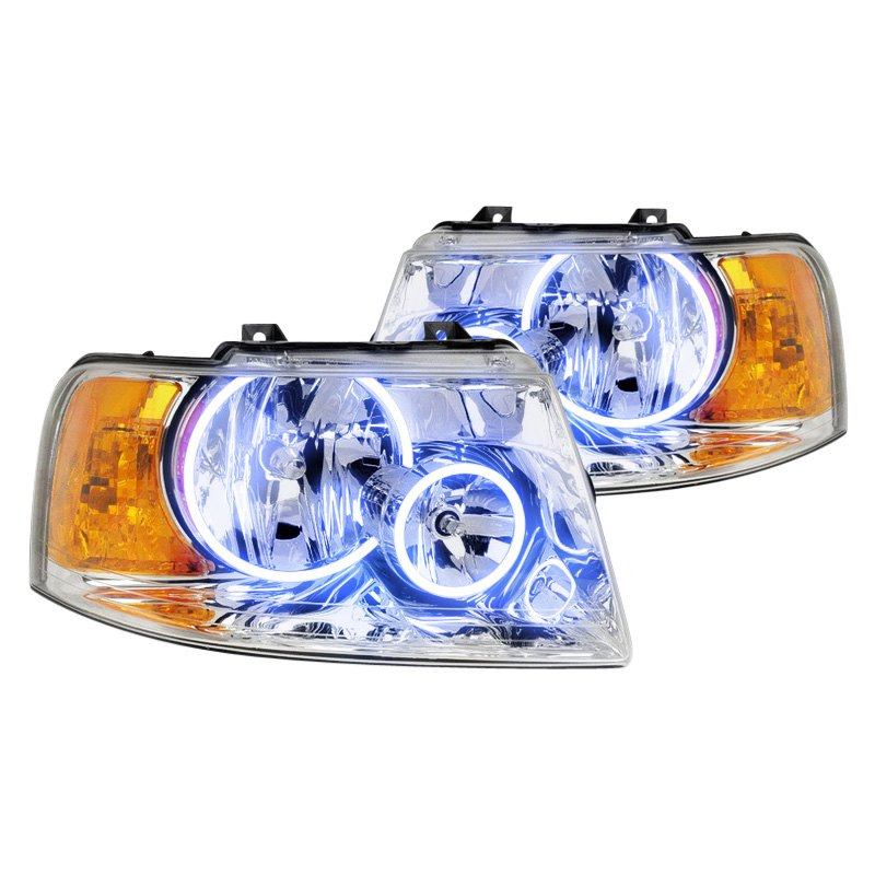 Oracle Lighting Ford Expedition 2006 Chrome Factory Style Headlights With Color Halo