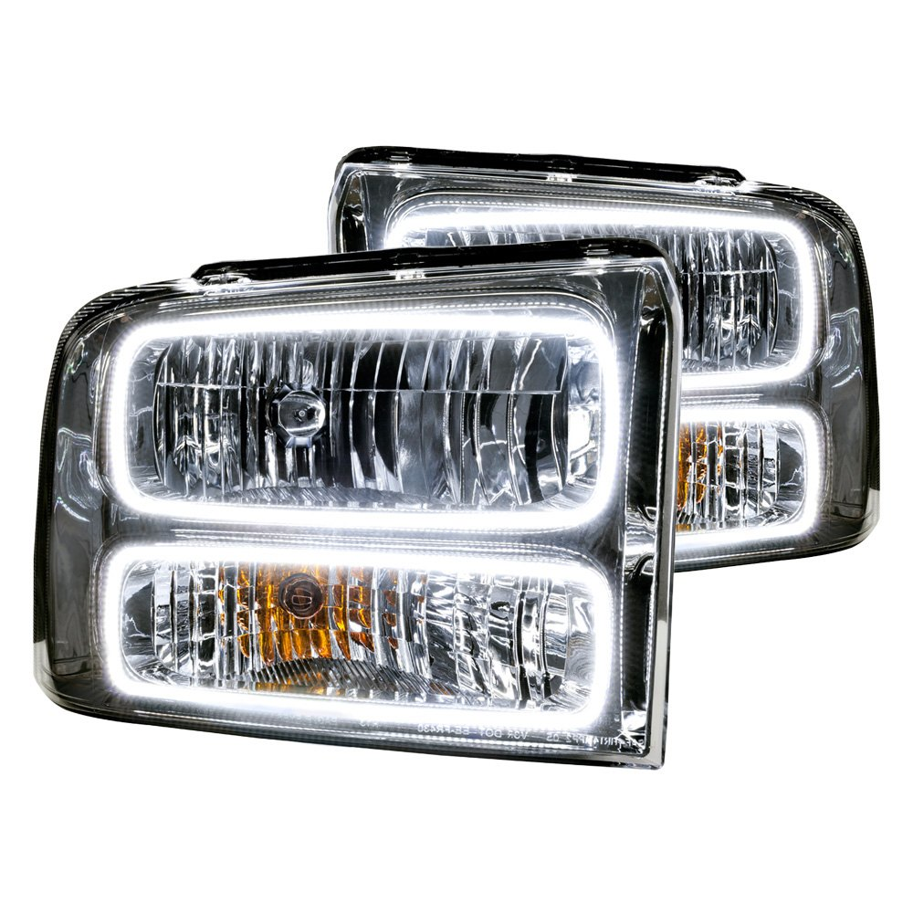 Ford F 250 Headlights : Oracle lighting ford f black headlights