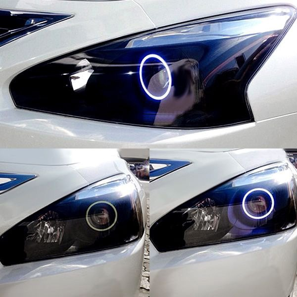 White Nissan Altima >> Oracle Lighting® - Nissan Altima Sedan 2013-2015 Chrome Factory Style Projector Headlights with ...