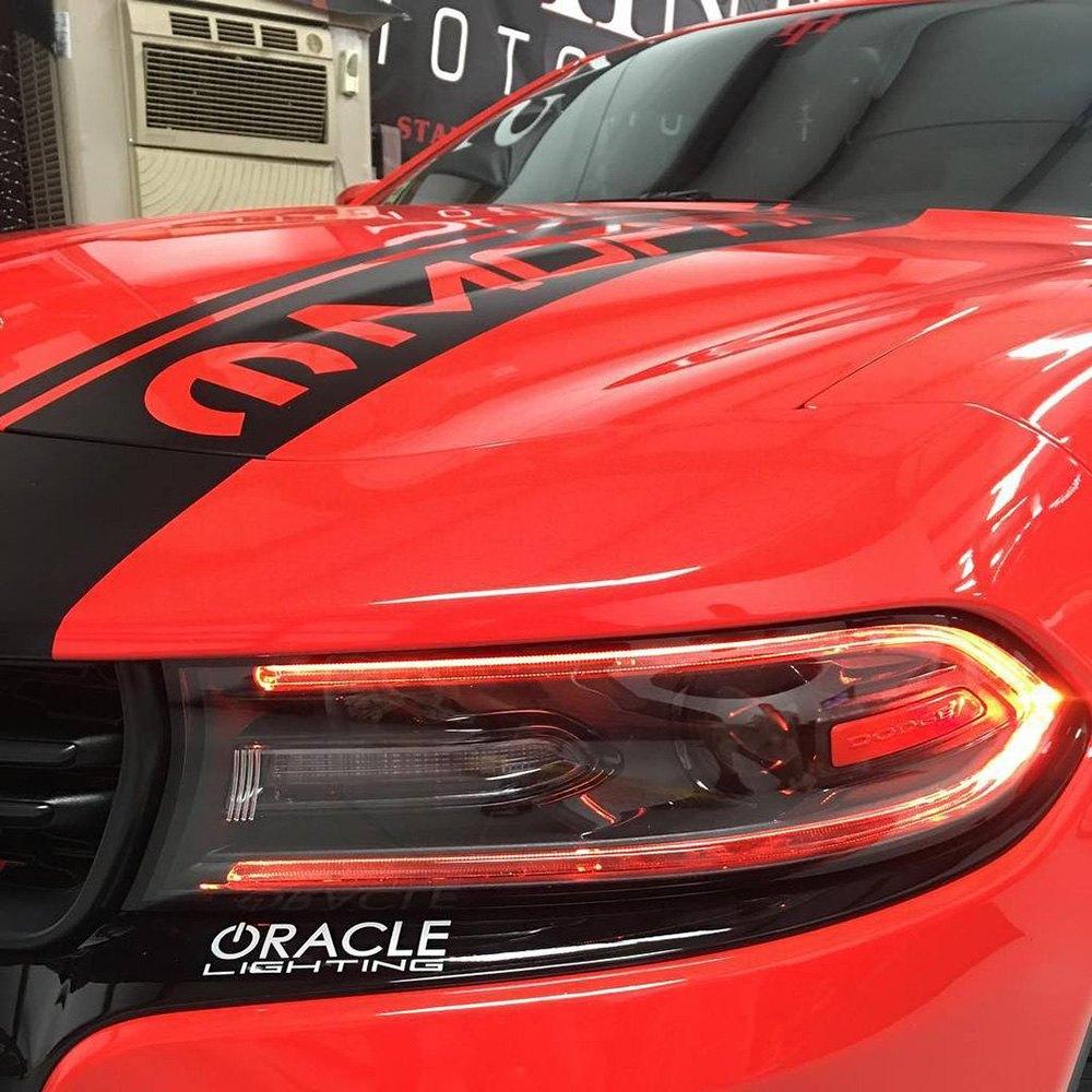 For Dodge Charger 15-20 ColorSHIFT LED Daytime Running Light Upgrade Kit