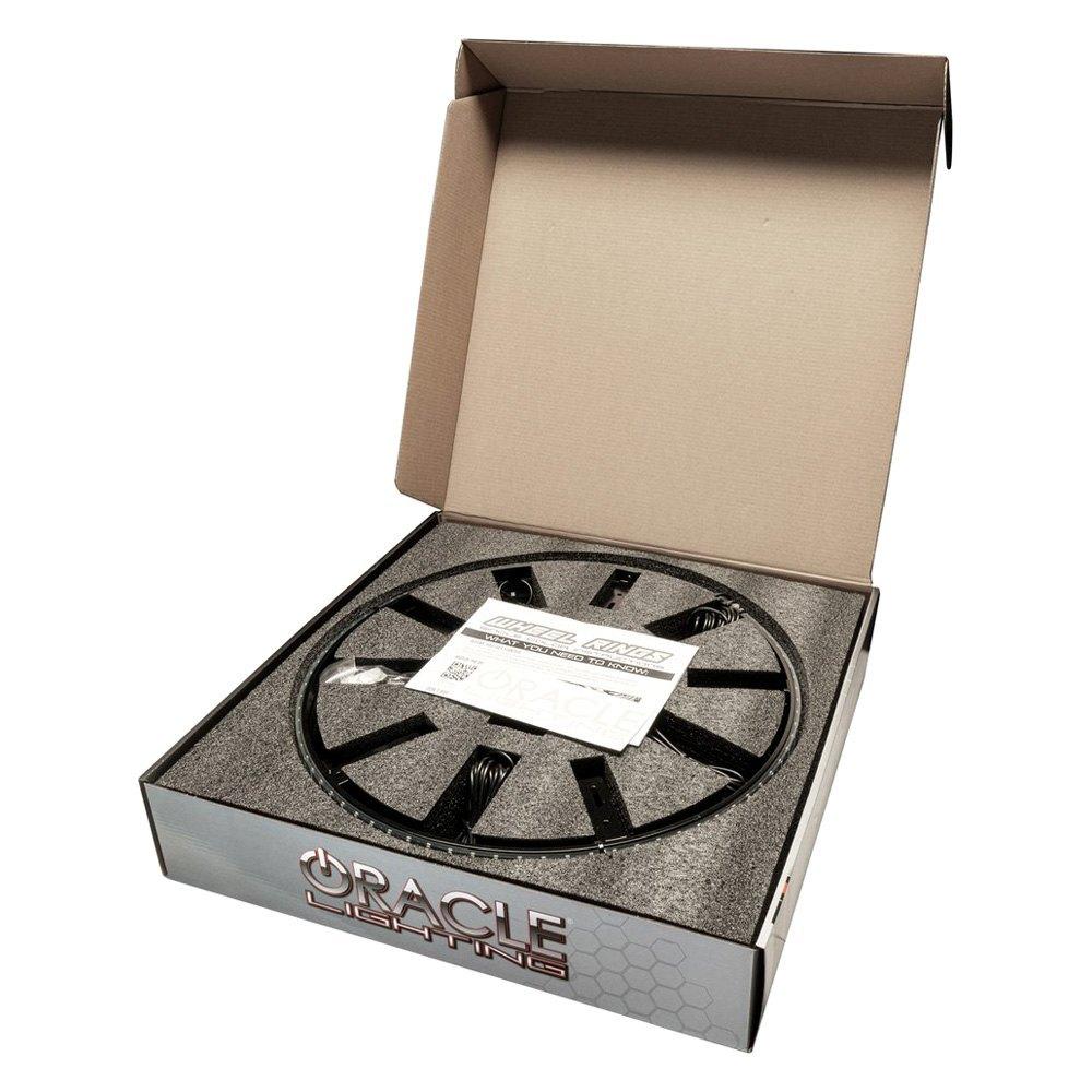 """Oracle 4215-002 15/"""" Blue LED Illuminated Wheel Rings Rim Light Kit w// Switch"""