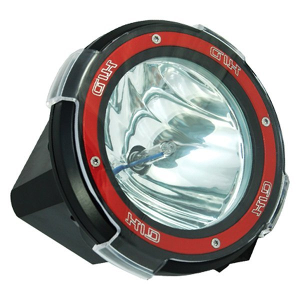 oracle lighting a10 round black red housing xenon hid light