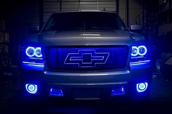 For Chevy Avalanche 07-13 SMD Waterproof Blue Halo Kit for Fog Lights