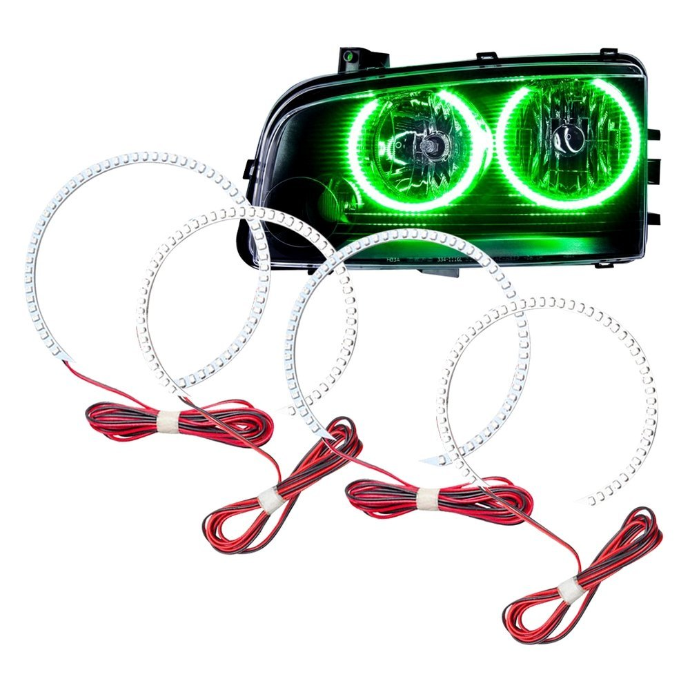 Oracle Lighting 2233 004 Smd Green Dual Halo Kit For Headlights Wiring