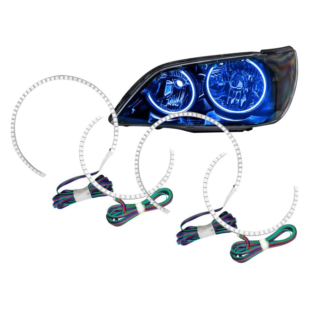 Oracle Lighting Lexus Is300 2005 Color Dual Halo Kit For Headlights 330 Blue Colors Smd