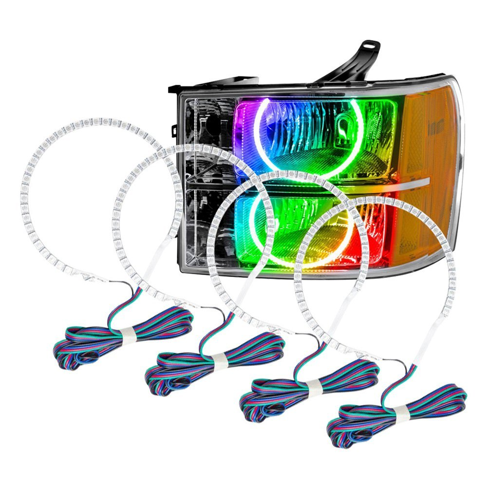 Oracle Lighting® - SMD ColorSHIFT 2.0 Dual Halo kit for Headlights