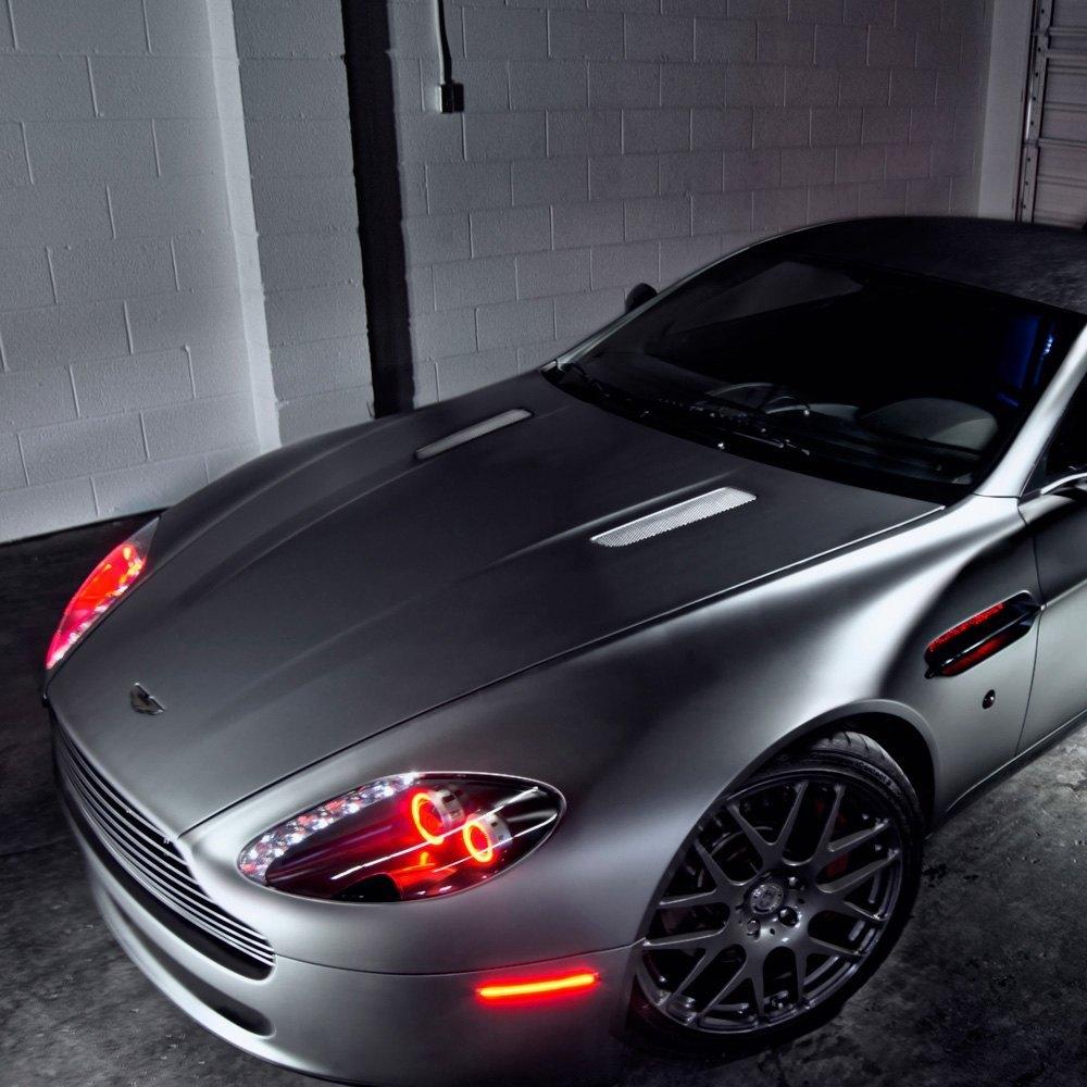 Oracle Lighting® - Aston Martin Vantage 2007-2012 Color Dual Halo on white v12 vantage, aston v8, 2007 aston vantage, aston martin's fresh, v8 vantage, car model vantage, aston db, aston v12 vantage, aston one-77, aston vanquish volante, aston rapide s,