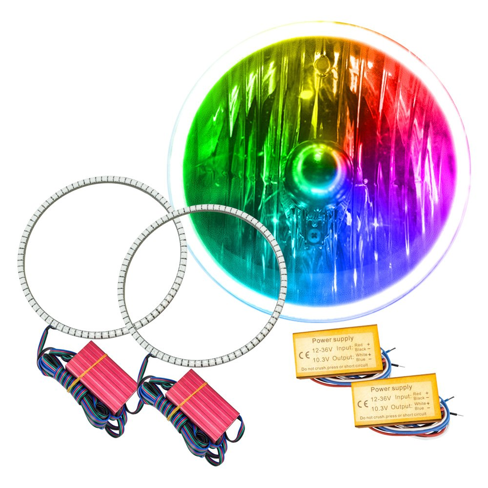 Oracle Lighting 3981 331 7 Smd Waterproof Colorshift Wifi Halo Illumination Lights Wiring Diagram Of 1994 Mazda Rx Kit For Headlights