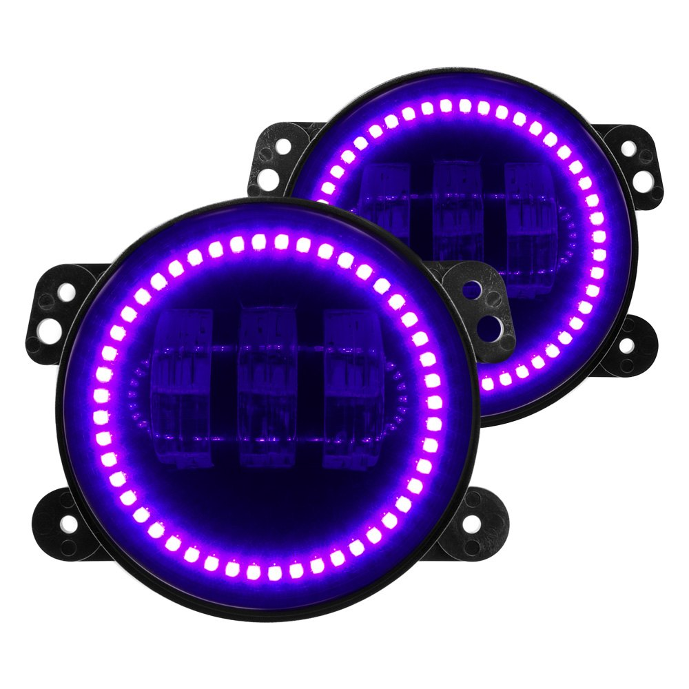 cob eyes signal product purple store pink ring turning truck light led headlights halo angel car lights