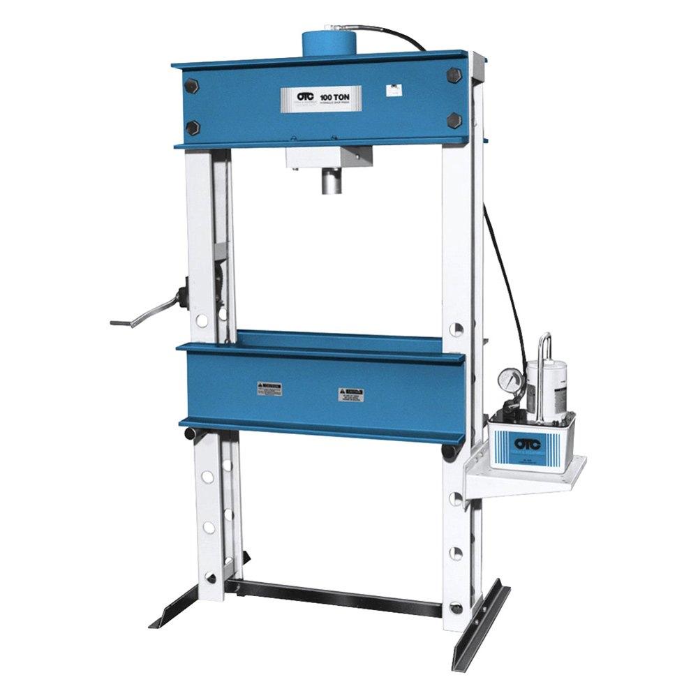 Otc 174 1854 100 Ton Capacity Economy Shop Press With