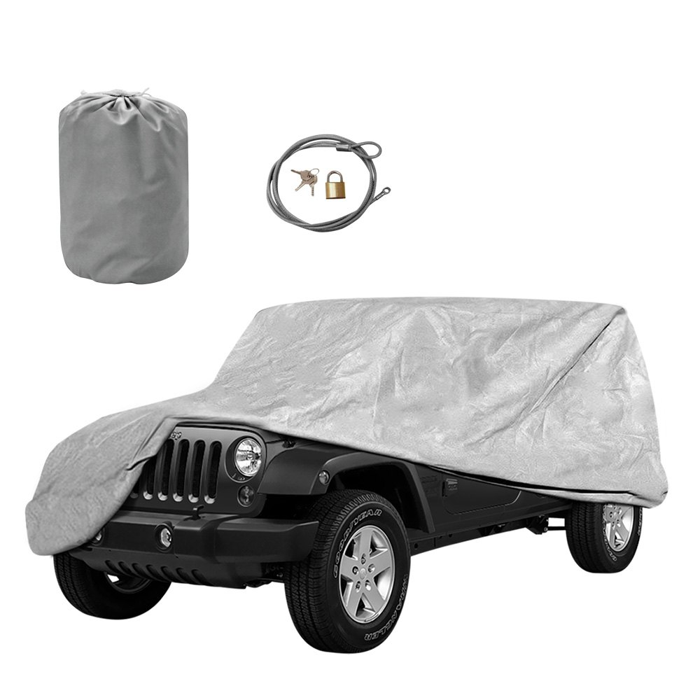 Car Cover Lock Kit : Outland automotive  gray full car cover