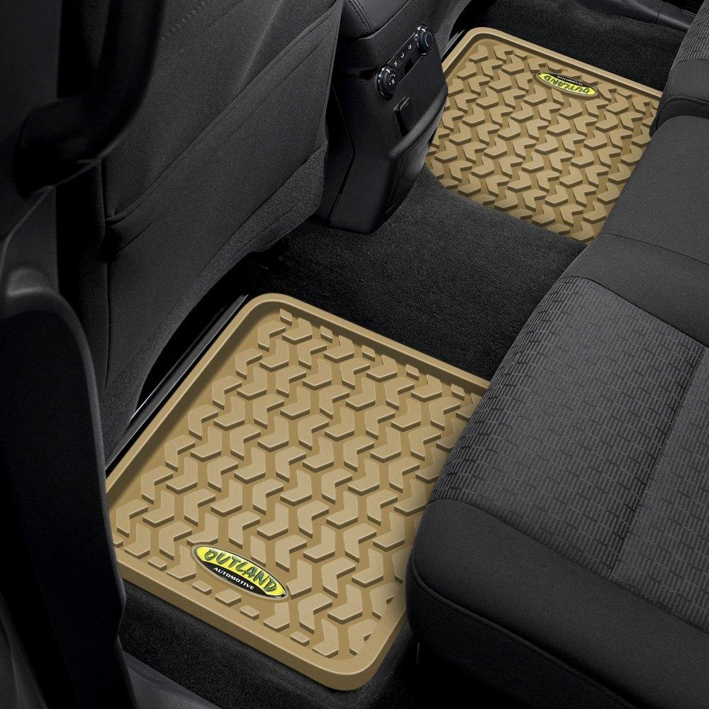 Outland automotiver 398395001 all terrain 2nd row tan for Mechanic floor mats