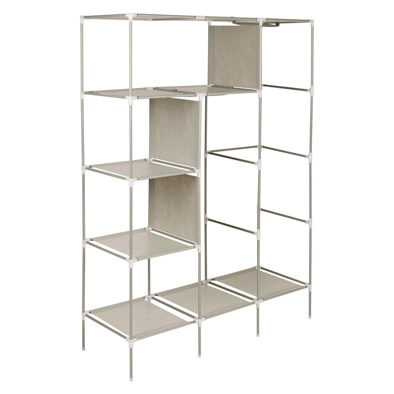 wardrobe storage new cabinet clothes ebay furniture portable rack armoires pin bedroom closet