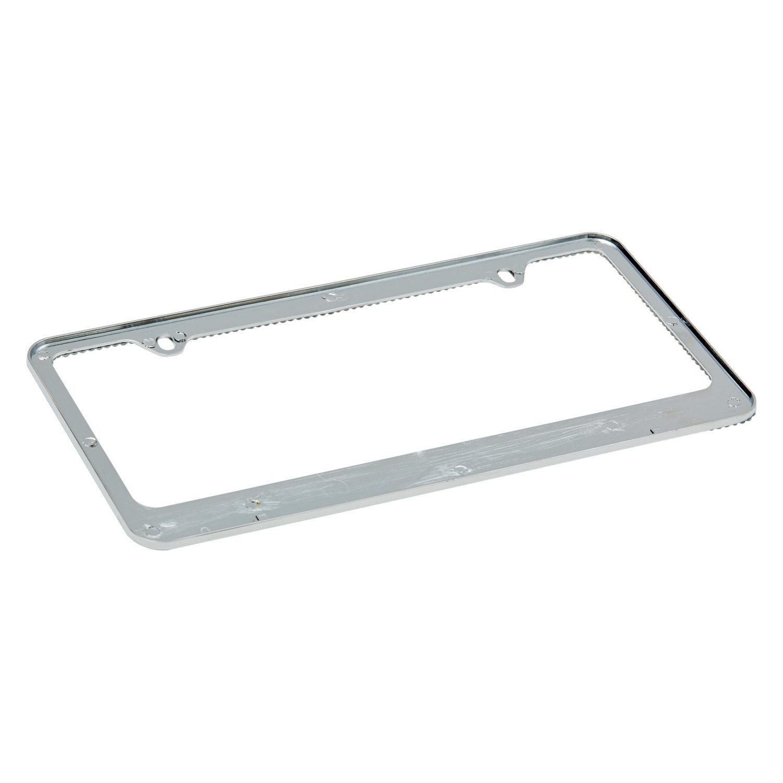 OxGord® LFZN-12 - Bling Diamond Chrome License Plate Frame