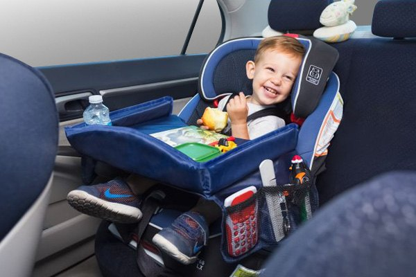 Kids Car Seat Activity Food Play Tray