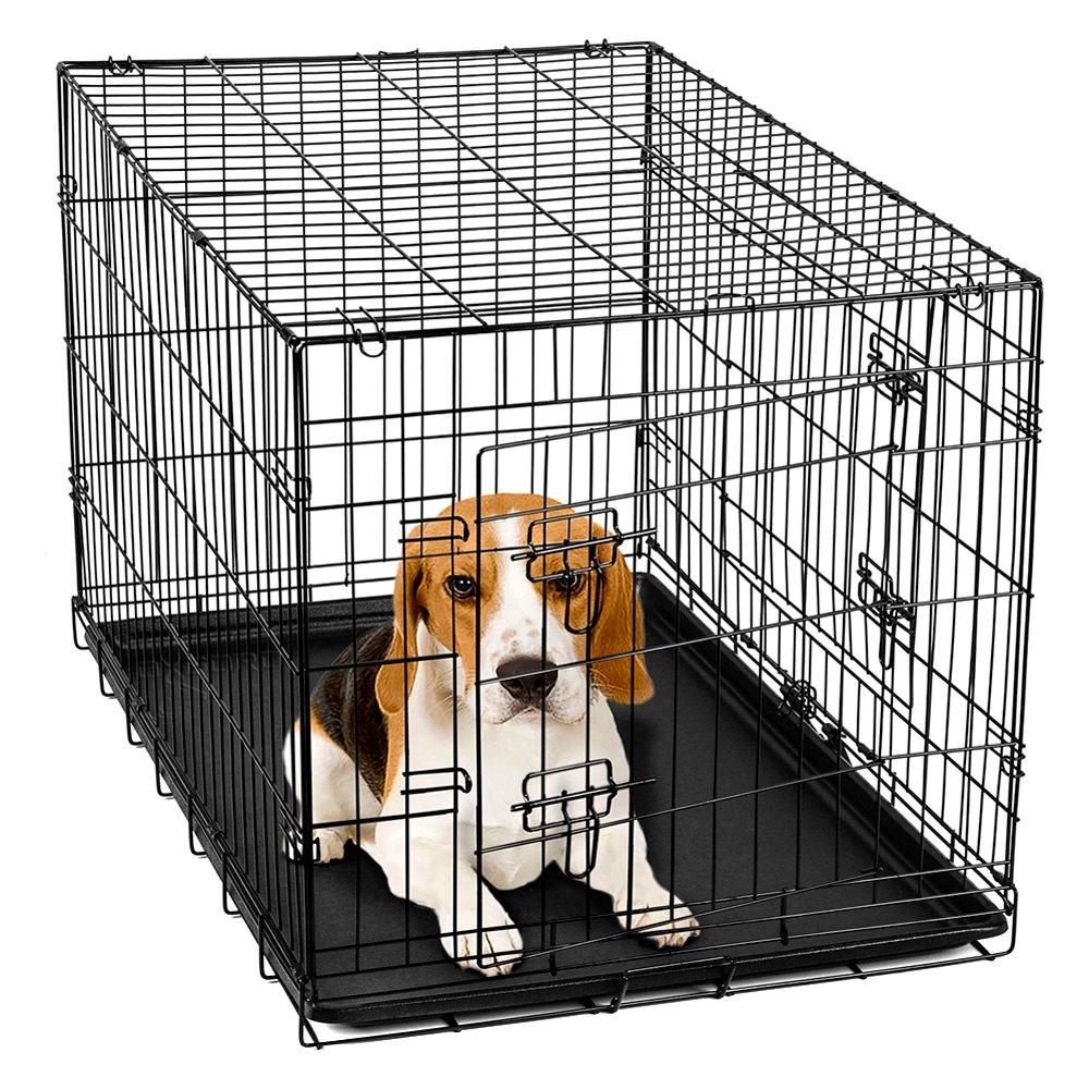 OxGord® PTCG01-30 - Pet Crate Folding Wire Kennel Playpen
