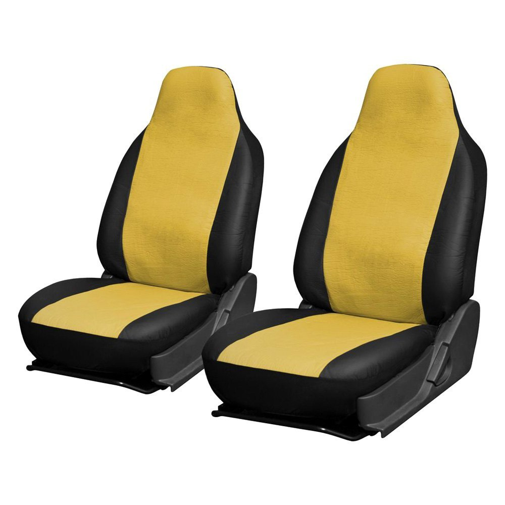 Outstanding Oxgord Scpu S2C Yw Faux Leather 1St Row Yellow Black Integrated Seat Covers Gmtry Best Dining Table And Chair Ideas Images Gmtryco