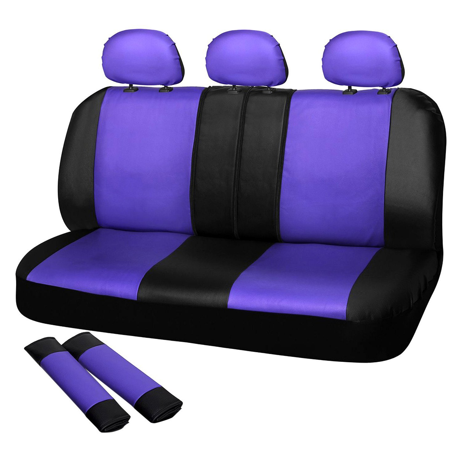 Purple And Black Seat Covers For Cars