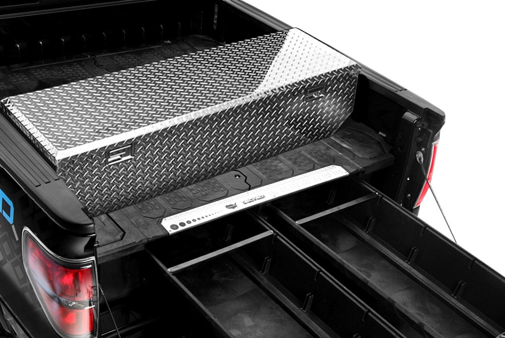Truck bed accessories tool boxes bed liners racks rails - Truck bed box drawers ...