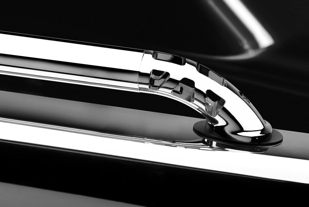 Truck Bed Side Rails Chrome Black Polished Stainless Steel