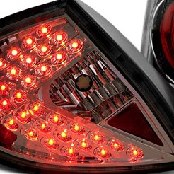 Neon Euro Style Led Tail Lights Chrome Smoked