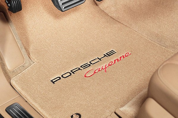 ... Tan Carpet Mat With Porsche Cayenne Logo ...