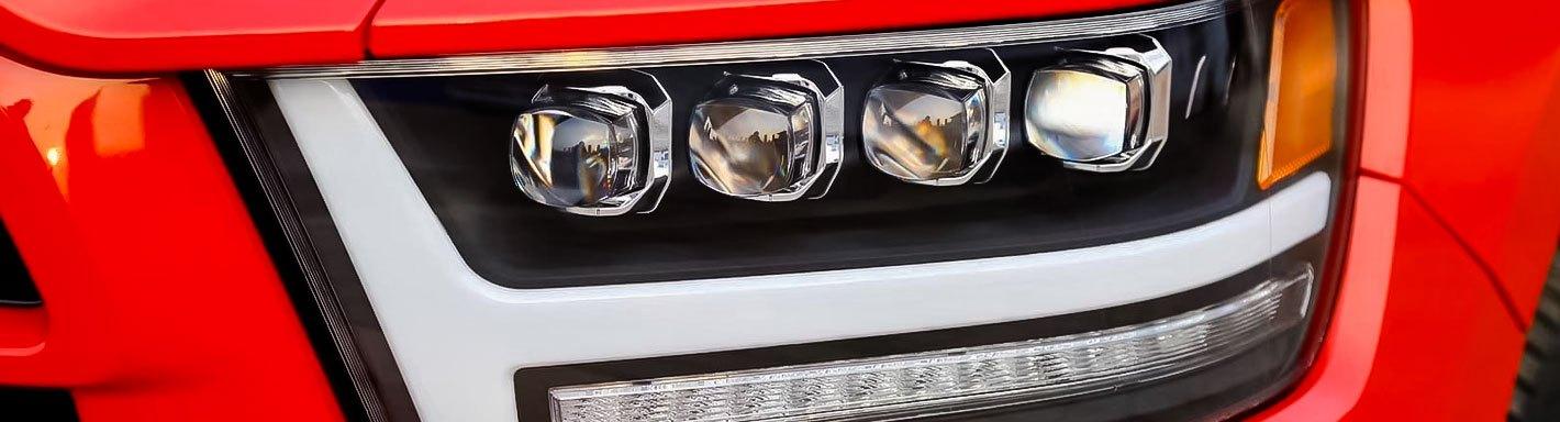 Chrome High Power  L Shape DRL LED Daytime Running Lights x2 For Jaguar All