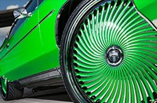 DUB Diragio Custom Painted 30 inch Wheels on Chevy Caprice