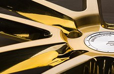Avant Garde F431 Brushed Pilished Brilliant Gold 32 inch Wheels