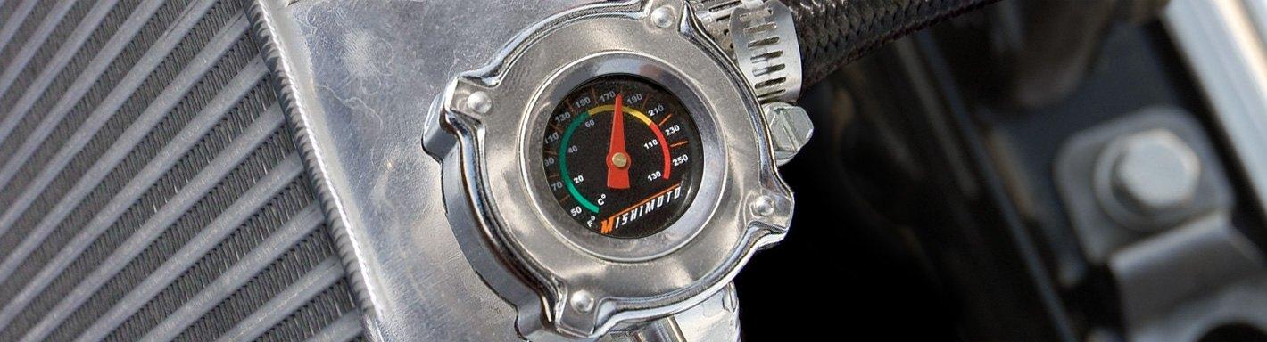 PROFORM 141-820 Billet Aluminum Chevy Bowtie Radiator Cap w//Embossed Logo Blk