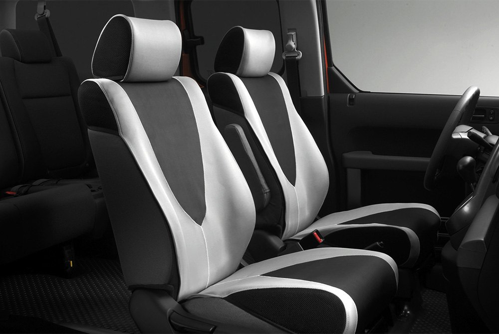 Black Gray Cloth Seat Covers