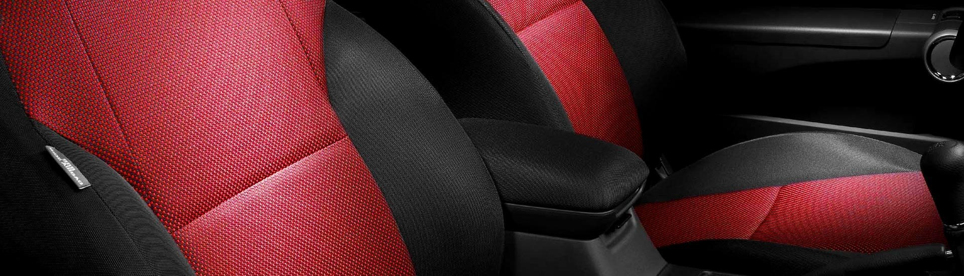BLACK PIPING CLASSIC MINI REAR SEAT COVER BLACK