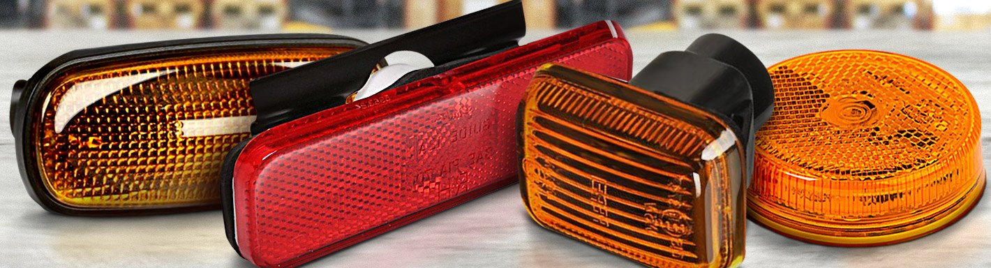 Side Marker Lights | LED, Clear, Smoked, Amber, Red — CARiD com