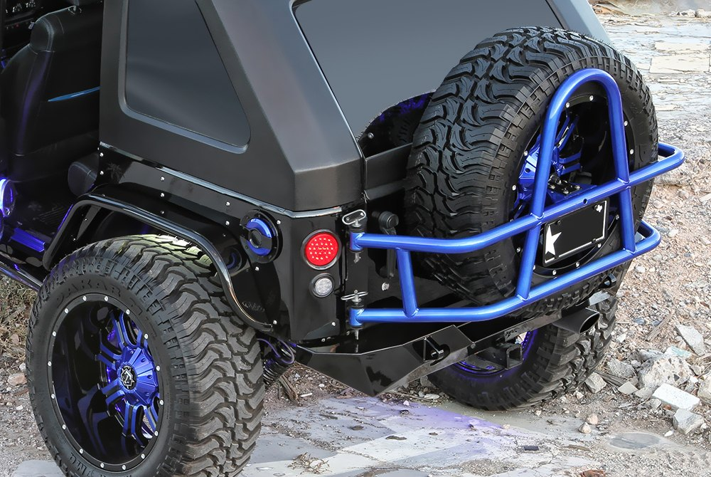 Jeep Jk Cargo Rack Body Mounted Spare Tire Carriers | Canister & Non-Canister ...