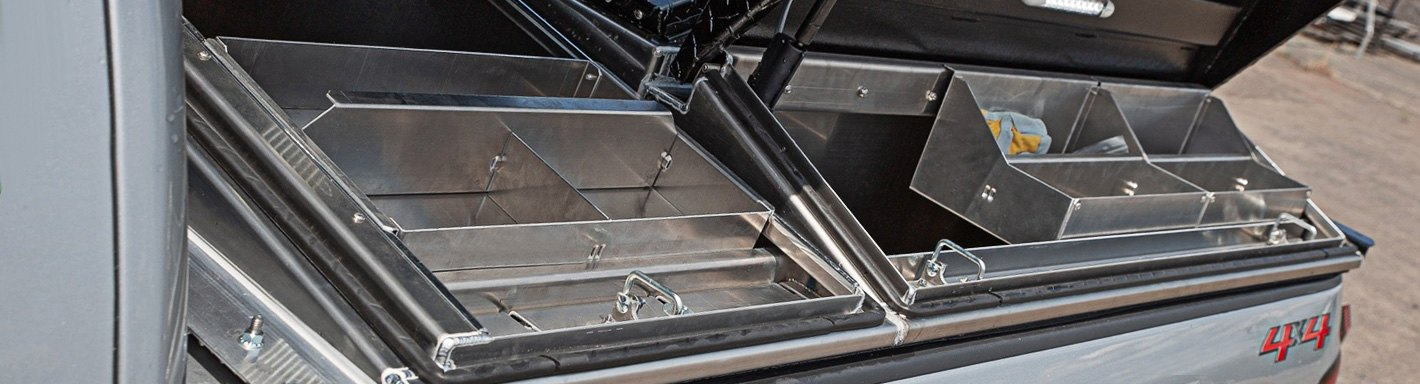 toyota tundra truck bed tool boxes | crossover, side mount, chest