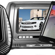 "Tview® - 7"" Headrest Monitor with Built-In DVD Player"