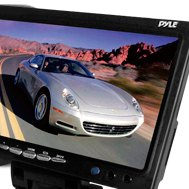 Pyle® - 7'' Widescreen TFT-LCD Video Monitor with Headrest Shroud and Universal Stand