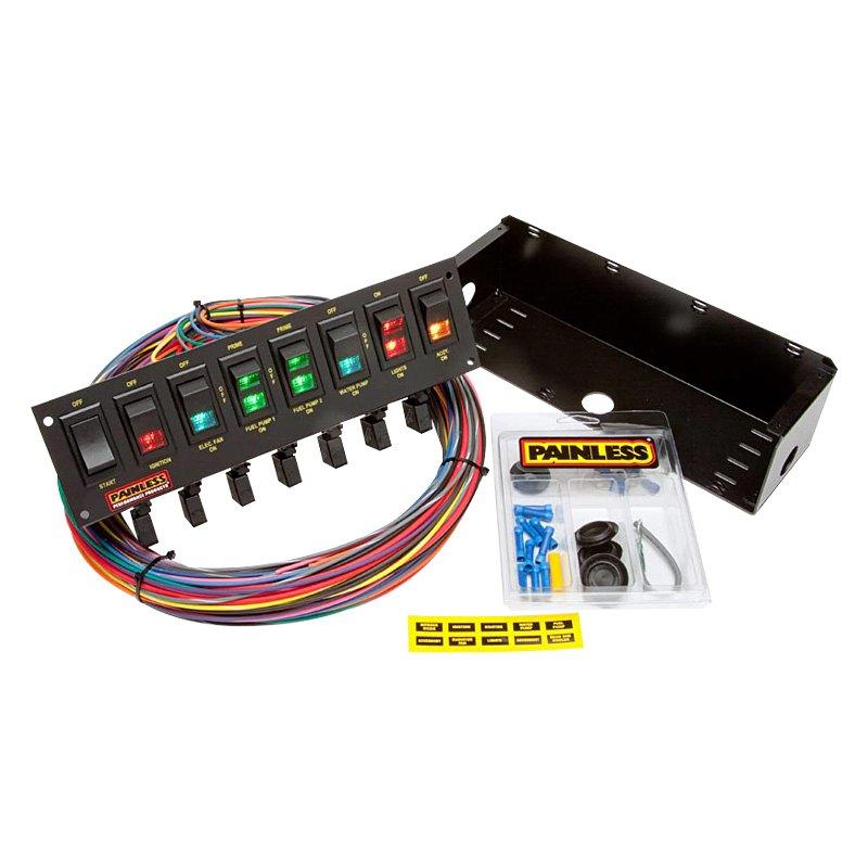 Painless Wiring 50306 8switch Rocker Circuit Breaker Panel Walmart