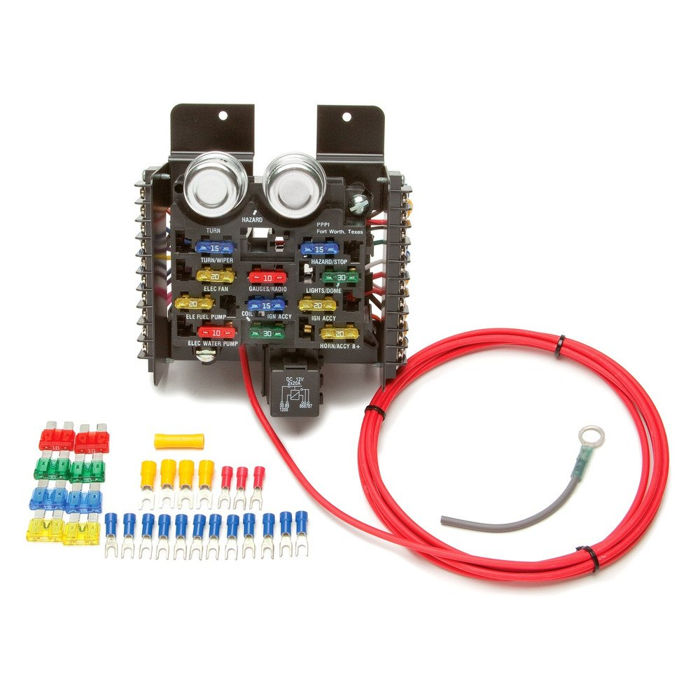 painless fuse block jeep painless fuse box painless performance reg 50101 16 circuit compact pro