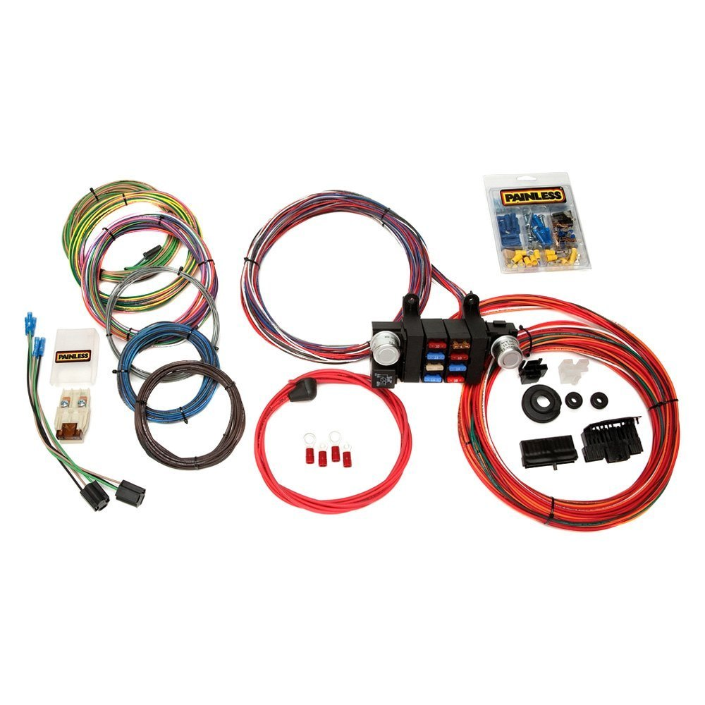 painless performance 174 10308 18 circuit customizable chassis harness