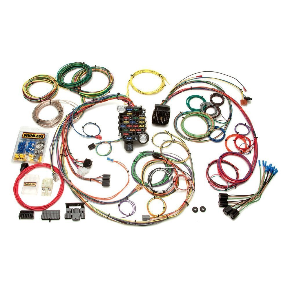 painless performance 174 20102 25 circuit classic plus customizable car chassis harness