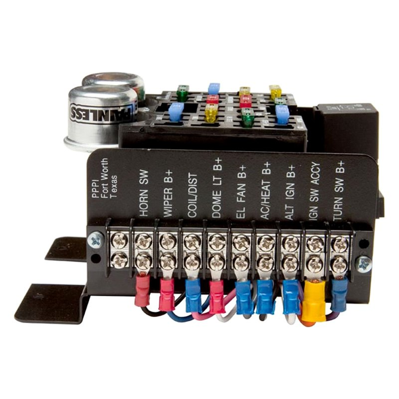 30001 3 painless performance� 30001 style pre wired 14 circuits fuse block painless fuse box at soozxer.org
