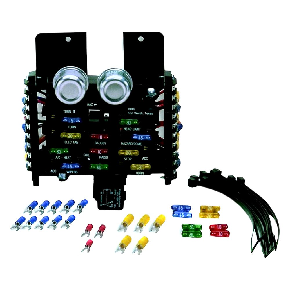 Auto Fuse Box Trusted Wiring Diagram Lights Painless Performance 30001 Style Pre Wired 14 Circuits Block 2004 Lincoln Town Car Dome