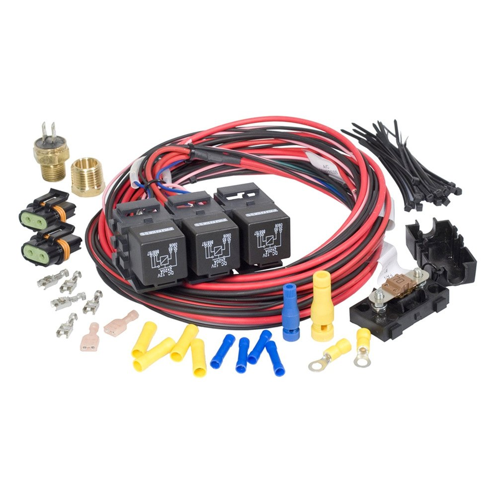 Painless Performance 30117 Dual Fan Activation Relay Kit Wiring Company