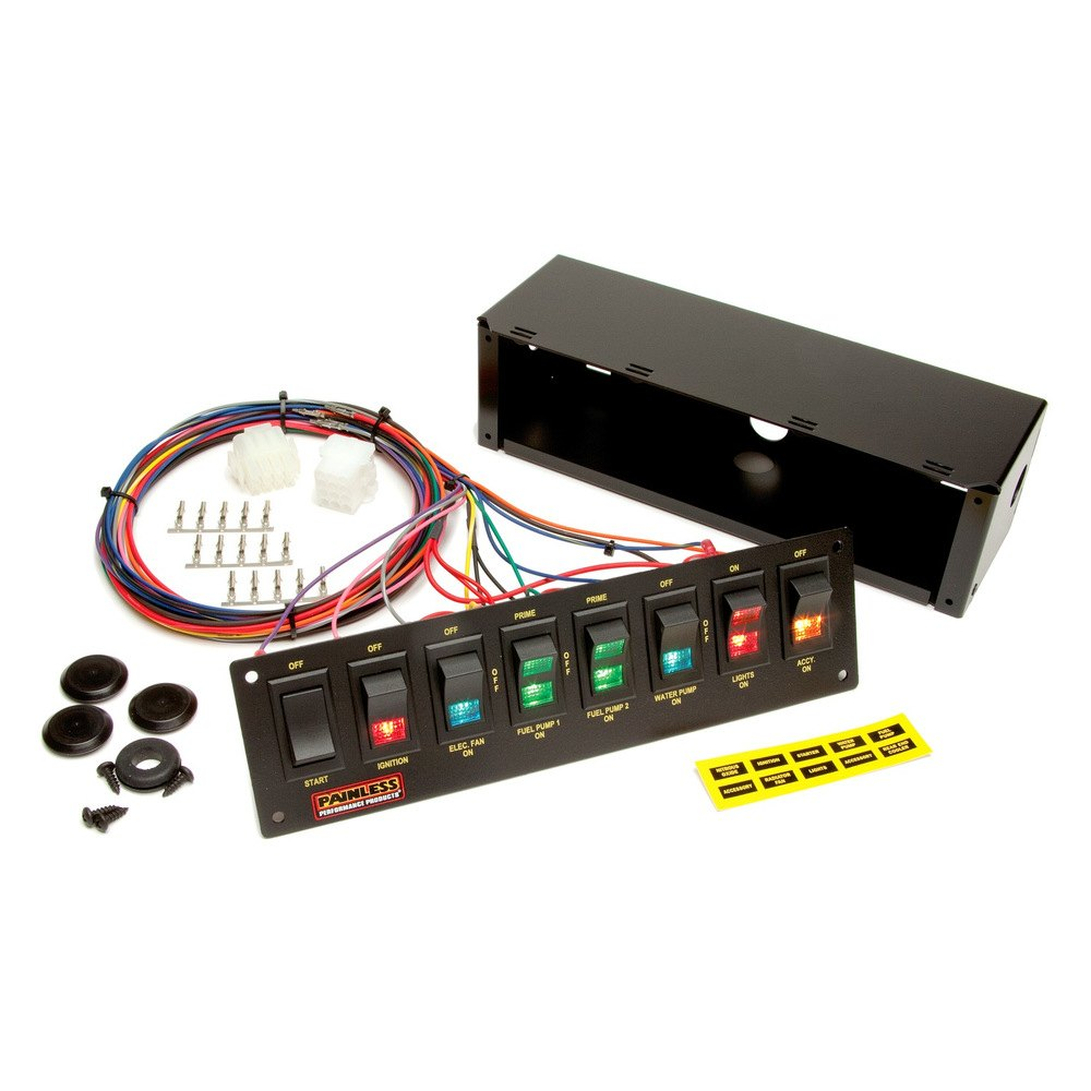 moroso switch panel wiring painless performance® 50202 - 8 switch panel/non-fused ... #12