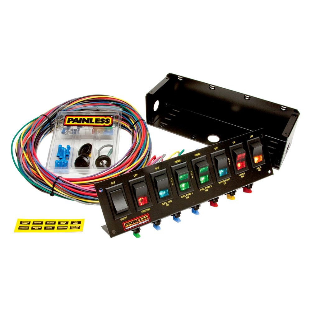 Painless Wiring Panels Great Design Of Diagram 50001 Fuse Box Performance U00ae 50303 Fused Panel With And Ez Harness