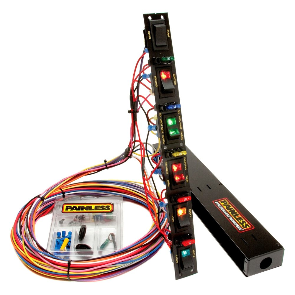 painless performance 50506 fused dragster vertical 6 switch panel rh carid com